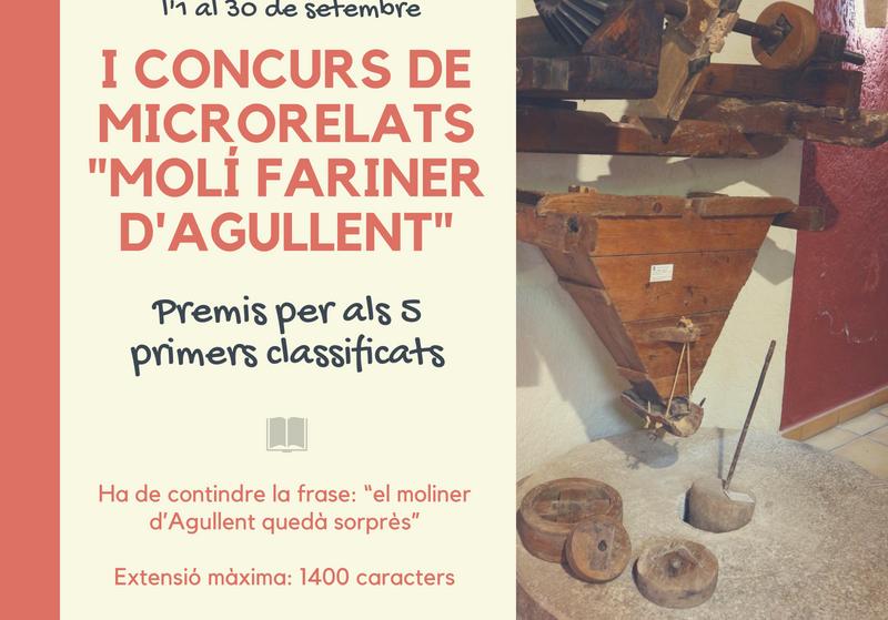 """I Concurso de Microrelatos """"Molí Fariner d'Agullent"""""""