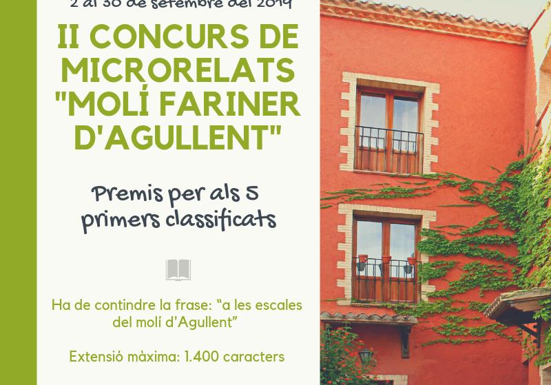 """II Concurs de Microrelats """"Molí Fariner"""""""