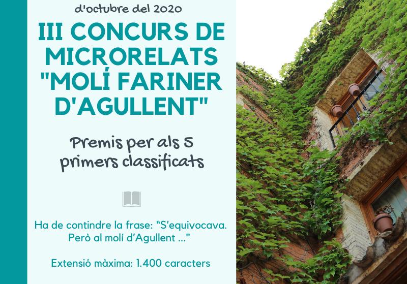 "III Concurs de Microrelats ""Molí Fariner d'Agullent"""